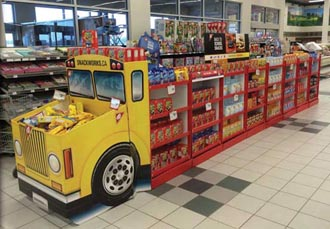 Mondelez School Bus Display Creative Magazine